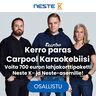 Kerro paras Carpool karaokebiisi - voita 700 euron lahjakorttipaketti Neste K- ja Neste-asemille!